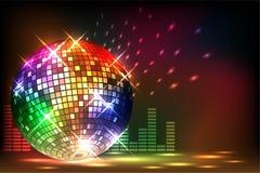 Sparkling disco ball. Night party Stock Photo