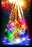 Sparkling disco ball. Night party Stock Photos
