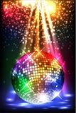 Sparkling disco ball. Night party Stock Photos