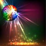 Sparkling disco ball. Night party Royalty Free Stock Photos