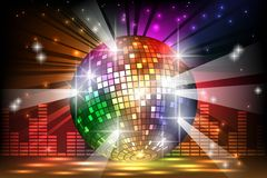 Sparkling disco ball. Night party Royalty Free Stock Photography