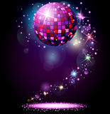 Sparkling disco ball. Night party Royalty Free Stock Images