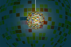 Sparkling disco ball shine with colorful reflection spread around. Sparkling disco ball shine with colorful reflection spreading around Royalty Free Stock Image