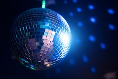 Sparkling disco ball. Royalty Free Stock Images