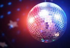Sparkling disco ball. Royalty Free Stock Photo