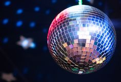 Sparkling disco ball. Stock Photo