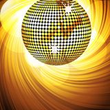 Sparkling disco ball and swirl Royalty Free Stock Photography