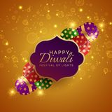 Sparkling diwali festival crackers vector background. Vector Royalty Free Stock Photography