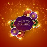 Sparkling diwali festival sale background with crackers. Vector Stock Images