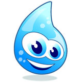 Sparkling drop of water. Funny drop of water, great for mascot or logo Royalty Free Stock Images