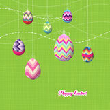 Sparkling easter eggs ornaments Royalty Free Stock Photography