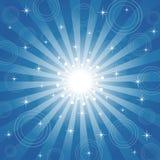 Sparkling Estrela-Estourou o fundo Fotografia de Stock