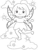 Sparkling fairy coloring page Stock Photos