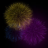 Sparkling fireworks Stock Photos