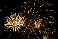 Sparkling fireworks in the night sky Royalty Free Stock Photography
