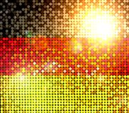 Sparkling flag of germany Royalty Free Stock Images
