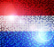 Sparkling flag of netherlands Royalty Free Stock Photo