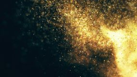 Sparkling flow abstract background Stock Images