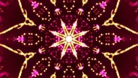 Sparkling flower kaleidoscope red stock video footage