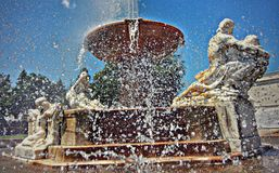 Sparkling fountain at Cleveland Museum of Art in Ohio Royalty Free Stock Photo