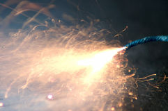 Sparkling fuse burnout Royalty Free Stock Image