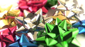 Sparkling Gift Bows Stock Photo