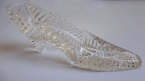 A Glass Shoe stock photography