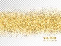 Sparkling glitter border isolated on transparent background, vec Stock Photos