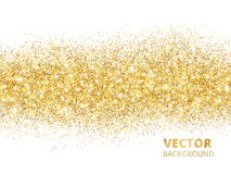 Sparkling glitter border isolated on white. Festive background w Royalty Free Stock Photography