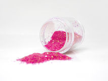 Sparkling glitter for nail art Royalty Free Stock Images