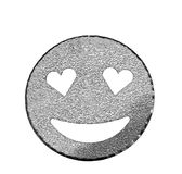 sparkling and glittery sympathetic smile symbol with heart-shape Royalty Free Stock Image