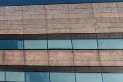 Sparkling gold and blue building details lines Stock Images