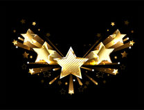 Sparkling gold five stars Royalty Free Stock Photos