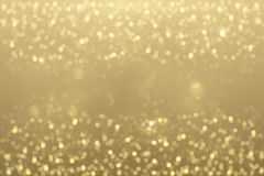 Shiny golden particles stock image