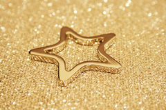 Sparkling gold star Royalty Free Stock Photos