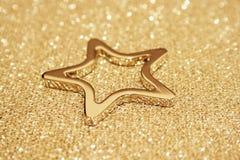Sparkling gold star royalty free stock photos