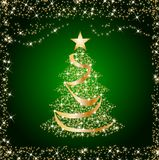 Sparkling golden christmas tree Royalty Free Stock Photo