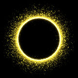 Sparkling golden satrdust solar eclipse Royalty Free Stock Images