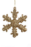 Sparkling Golden Snowflake Royalty Free Stock Image