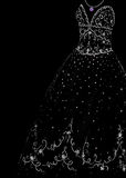 Sparkling gown sketch Stock Photos