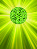 Sparkling green discoball. EPS 8 Stock Images