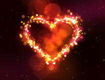 Sparkling heart Royalty Free Stock Images