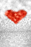 Silver Glitter Heart Royalty Free Stock Photography