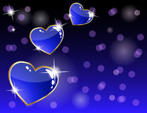 Sparkling heart card Stock Images