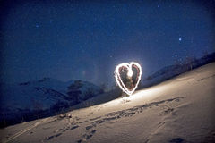 Sparkling heart Stock Images