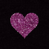 Sparkling heart shape of sequins Royalty Free Stock Photography