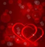 Sparkling hearts background vector Stock Photos