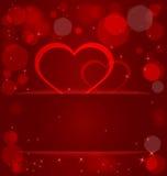 Sparkling hearts light pocket vector Stock Images