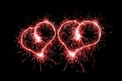 Sparkling Hearts Stock Photos