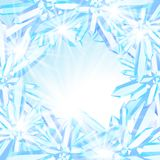 Sparkling ice crystals Royalty Free Stock Images